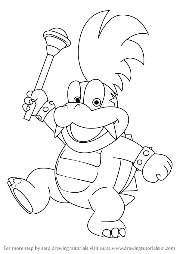 Koopalings Coloring Pages : koopalings, coloring, pages, Learn, Larry, Koopa, Koopalings, (Koopalings), Drawing, Tutor…, Super, Mario, Coloring, Pages,, Dinosaur, Pages