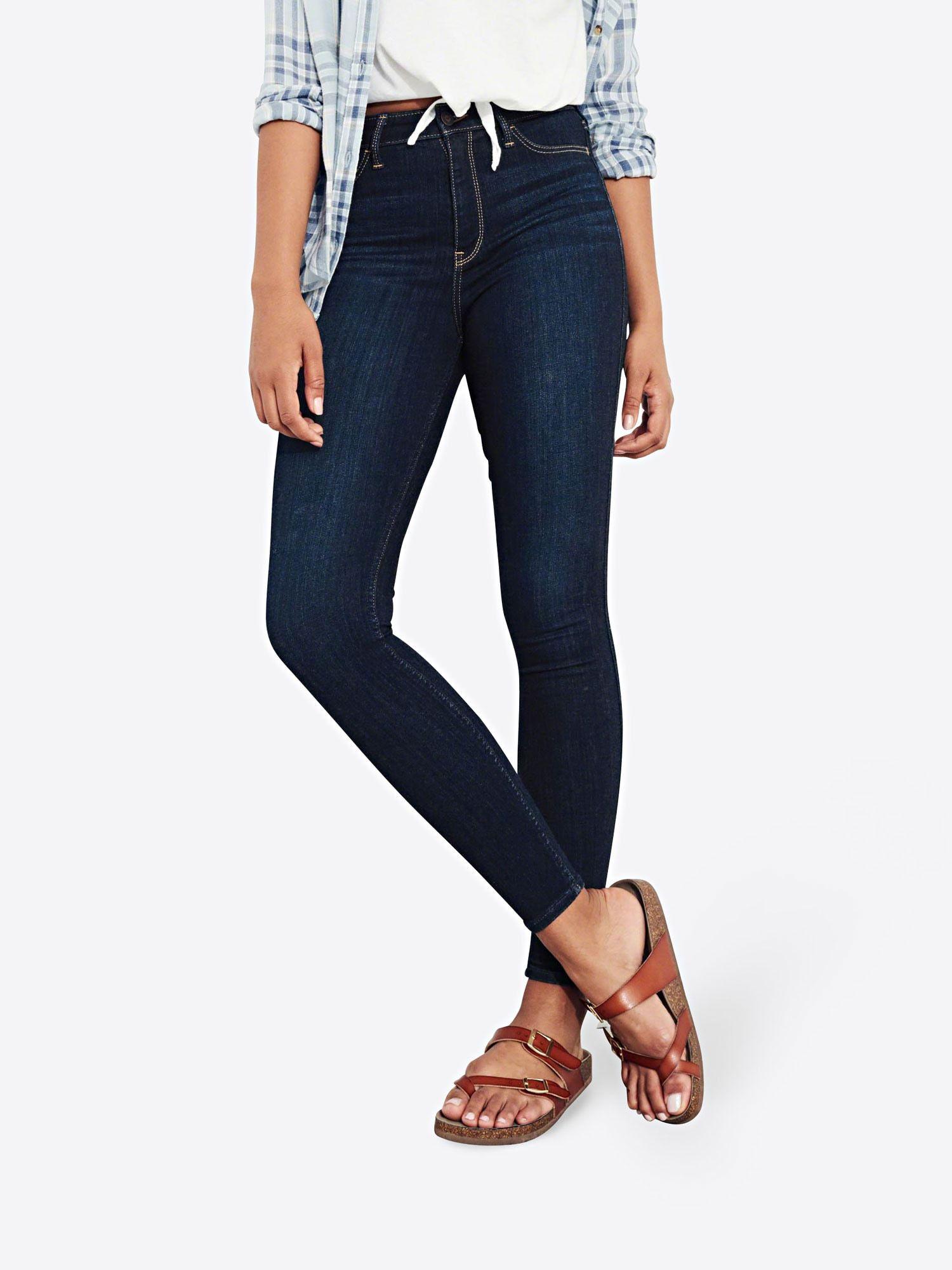 damen jeans schwarz ankle 25 hollister