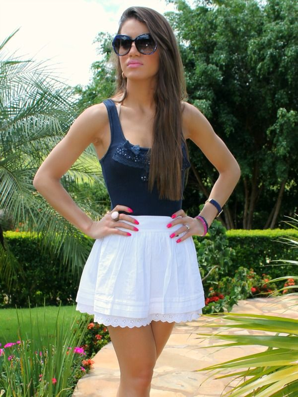 30cda630d1 Brazilian Girl wiht white Skirt!