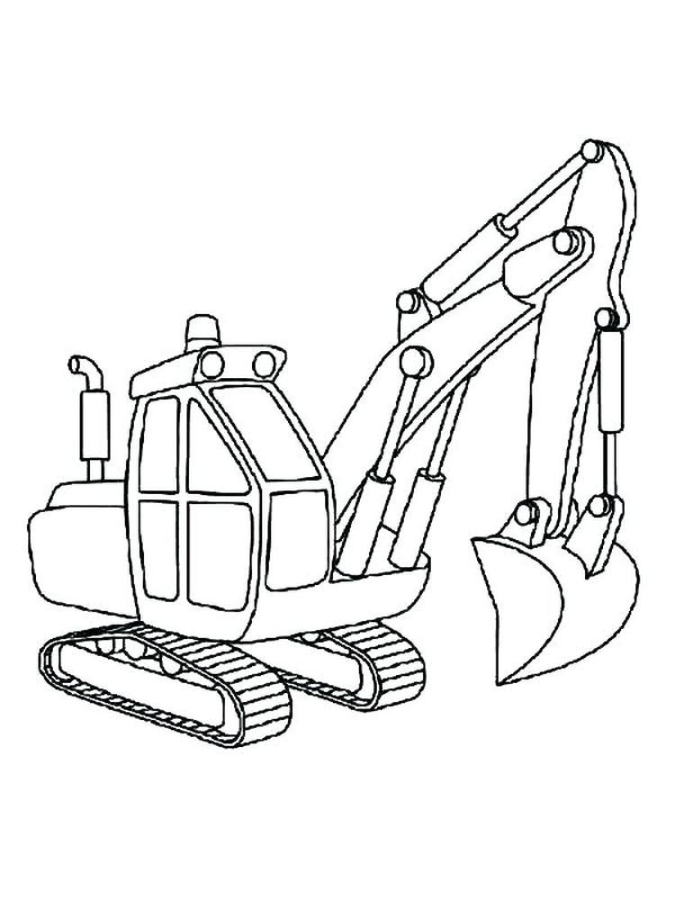 Excavator Coloring Page To Print Excavators Are Heavy Equipment Consisting Of Arms Booms And Buck Coloring Pages To Print Coloring Pages Truck Coloring Pages