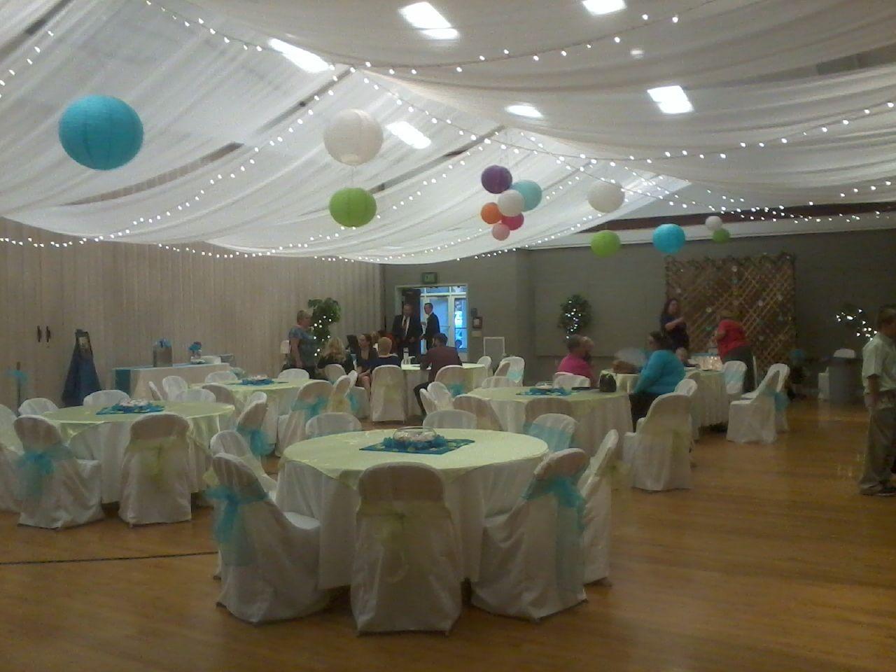 Ceiling Wedding Decorations Decorating Lds Gym For Wedding Google Search Wedding Decor