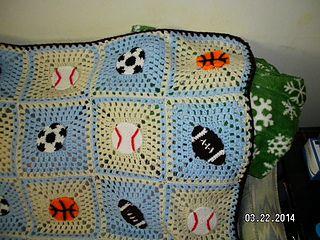 Photo of keia27's Baby Boy Sports Theme Blanket