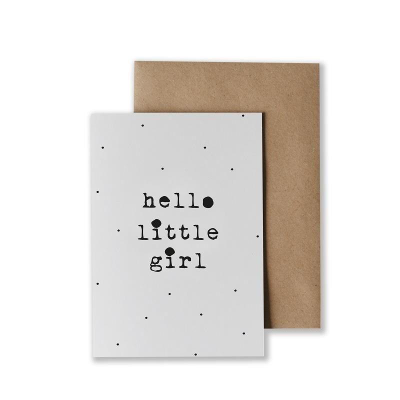 Kaart Hello Little Girl