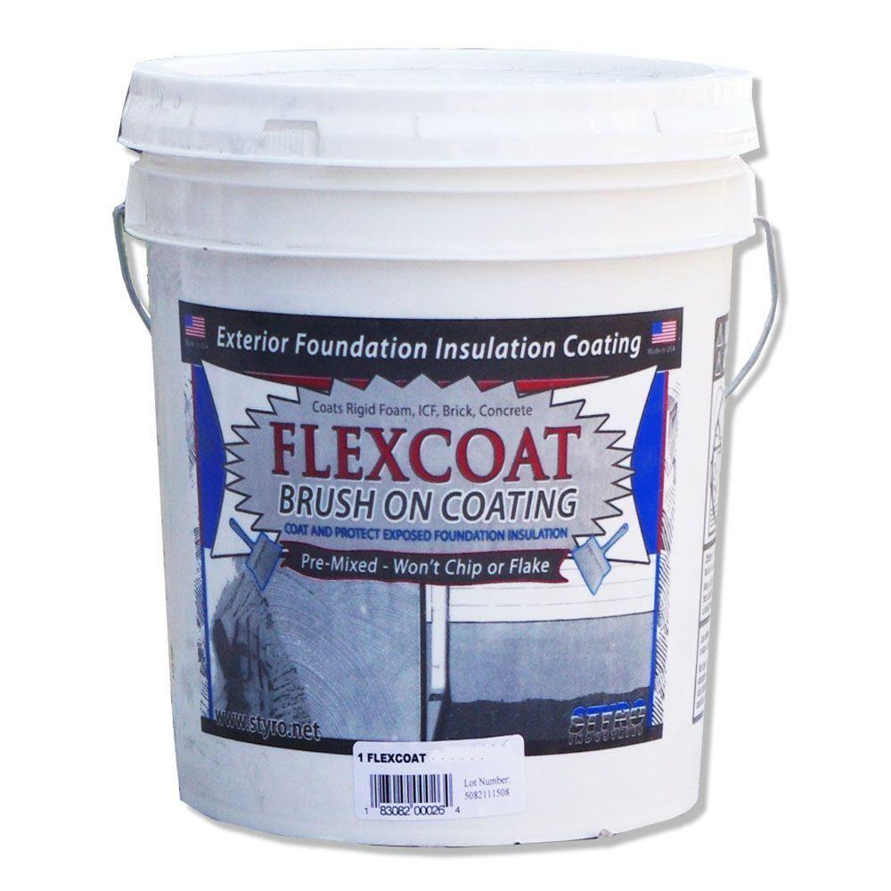 STYRO Industries 5 Gal  Foundation Grey FlexCoat Brush on Foundation