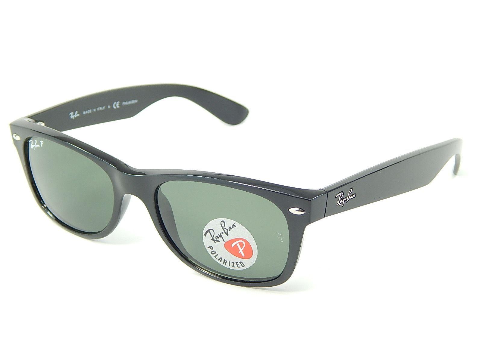 16a49b35bf Ray Ban Wayfarer RB2132 901 58 Black  Green Classic G-15 52mm Polarized  Sunglasses