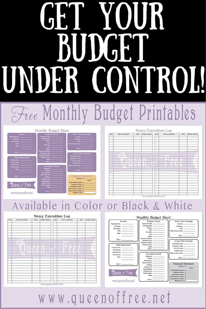 free printable budget worksheet journals pinterest printable
