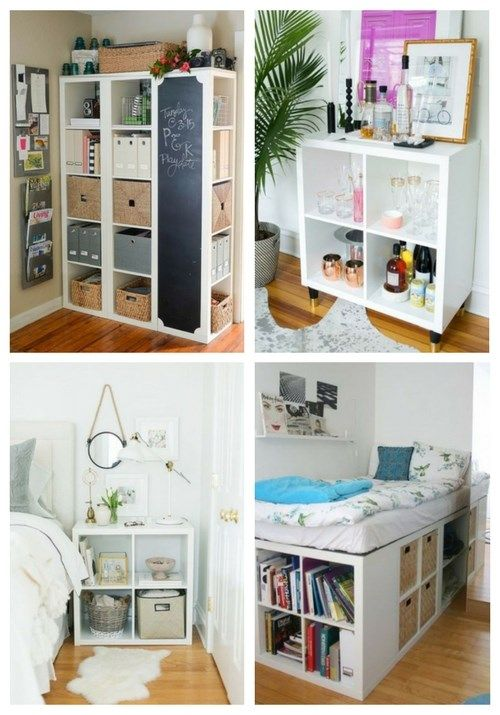 75 Cool IKEA Kallax Shelf Hacks | DECOR in 2019 | Ikea