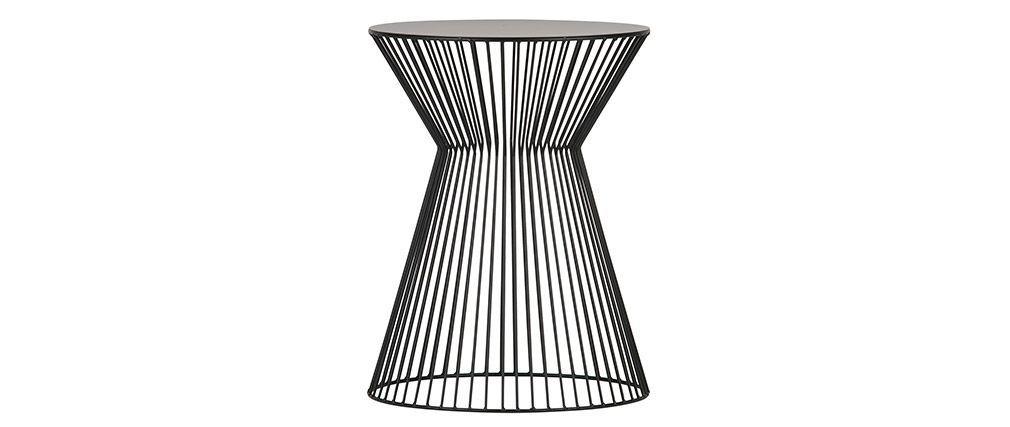 Table D Appoint Design Filaire Metal Noir Timy Miliboo Table D Appoint Table D Appoint Design Miliboo