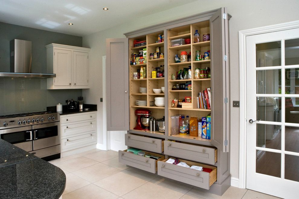 12 Inch Deep Pantry Cabinet With Contemporary Kitchen Also Food