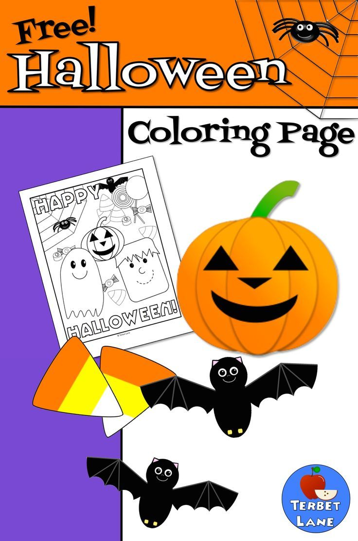 Enjoy This Adorable Free Halloween Coloring Page.