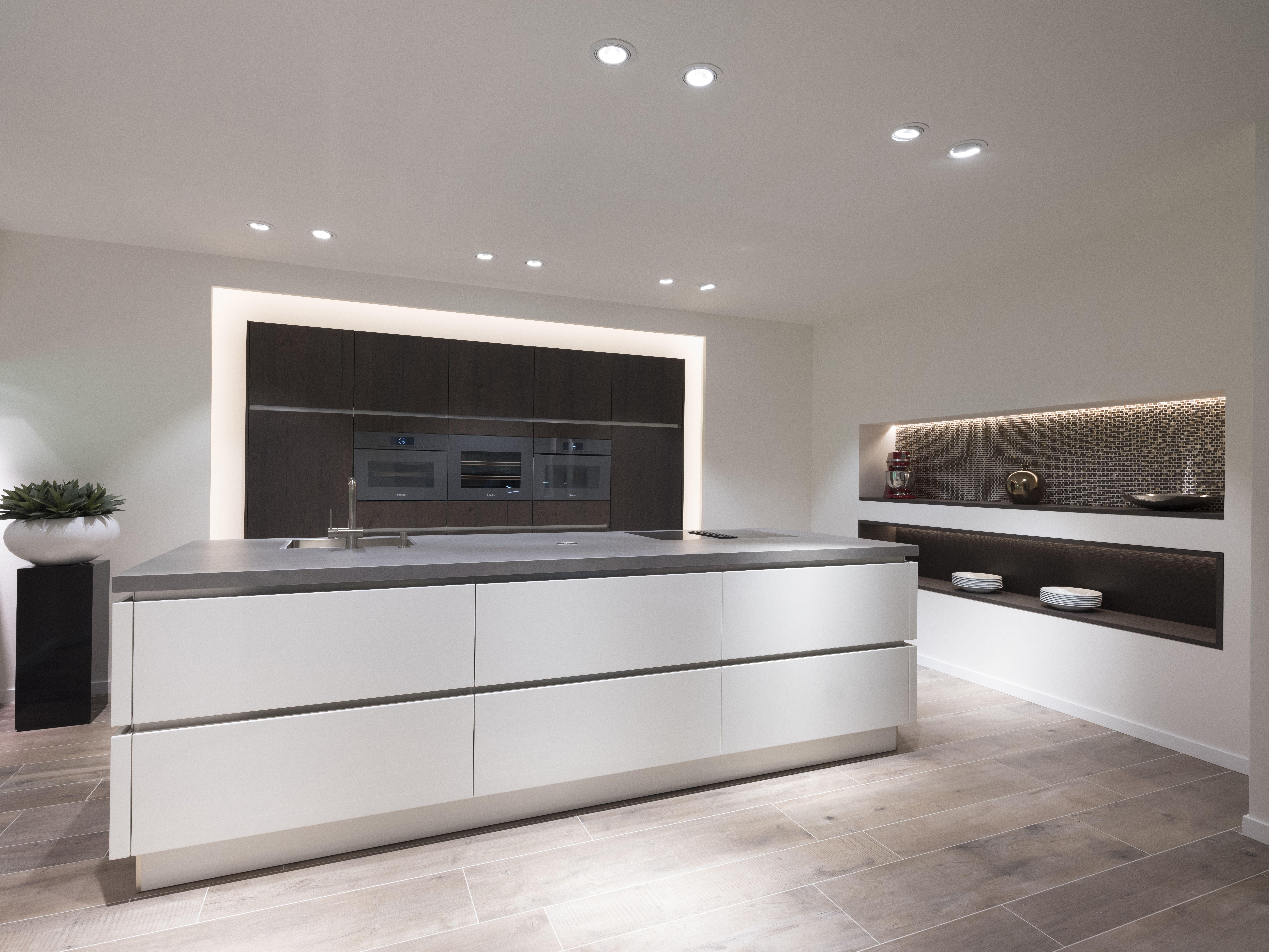 Hedendaags Moderne keuken met eiland - Aufour, moderne keukens op maat RZ-12