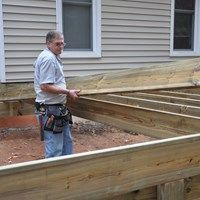 Step By Instructions And Tips On How To Frame A Deck Learn Install Treated Wood Joists Beams Build Strong