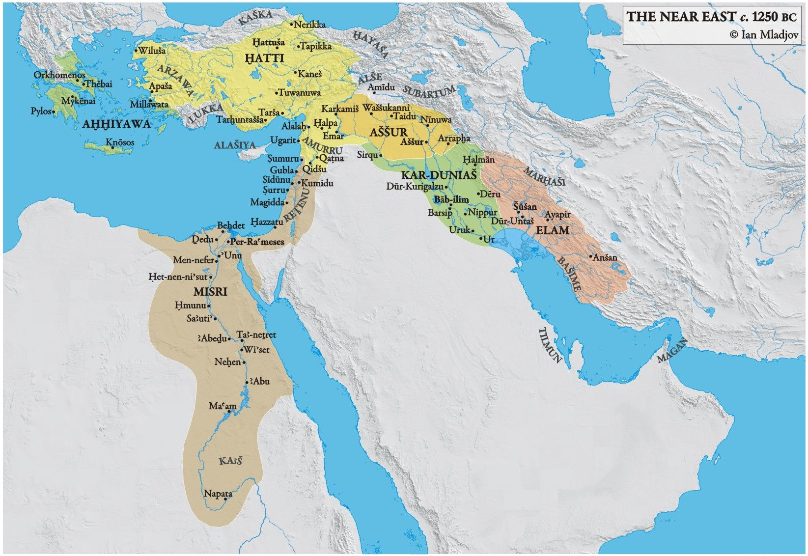 Ancient Middle East Map - DANIELELINA