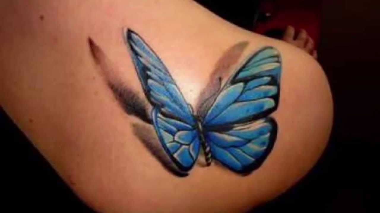 Realistic Butterfly Tattoos Tattoo Designs For Girls Youtube