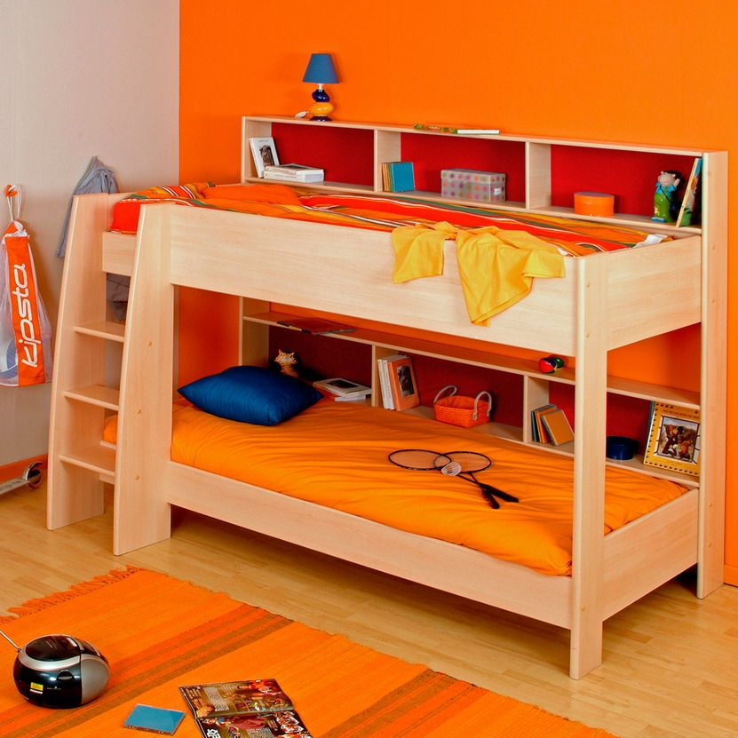 18 Loft Kids Bedroom Design Ideas Colorful Bunk Bed For