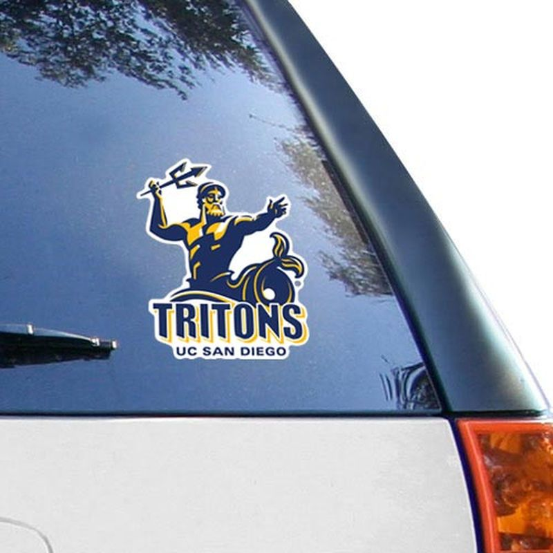 UC San Diego Tritons 8'' x 8'' Colored Die Cut Decal