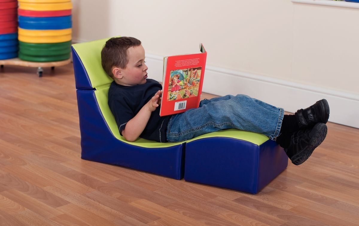 Folding reading seat soft seating childrens furniture for Toddler reading chair