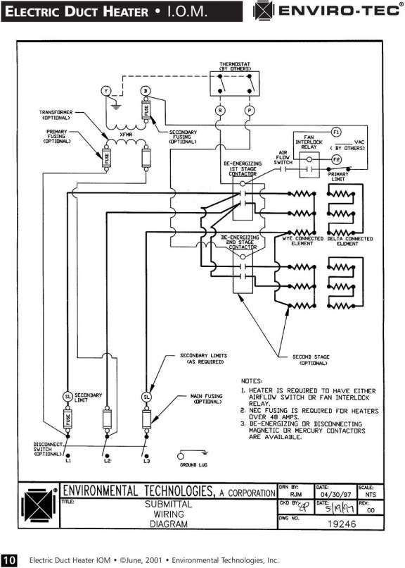 16 electric duct heater wiring diagram