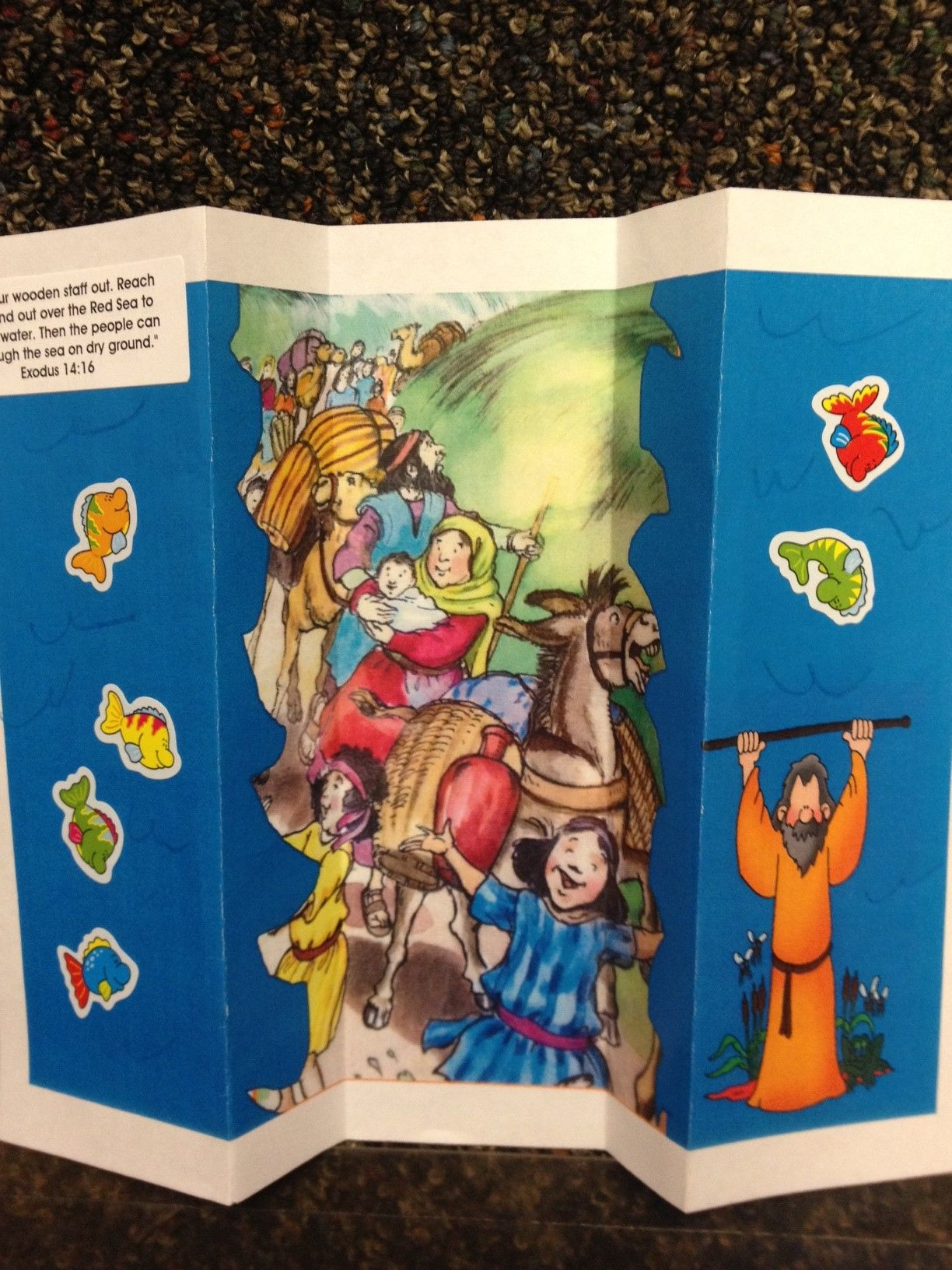 The Opened Up Page Of The Moses And The Red Sea Craft The