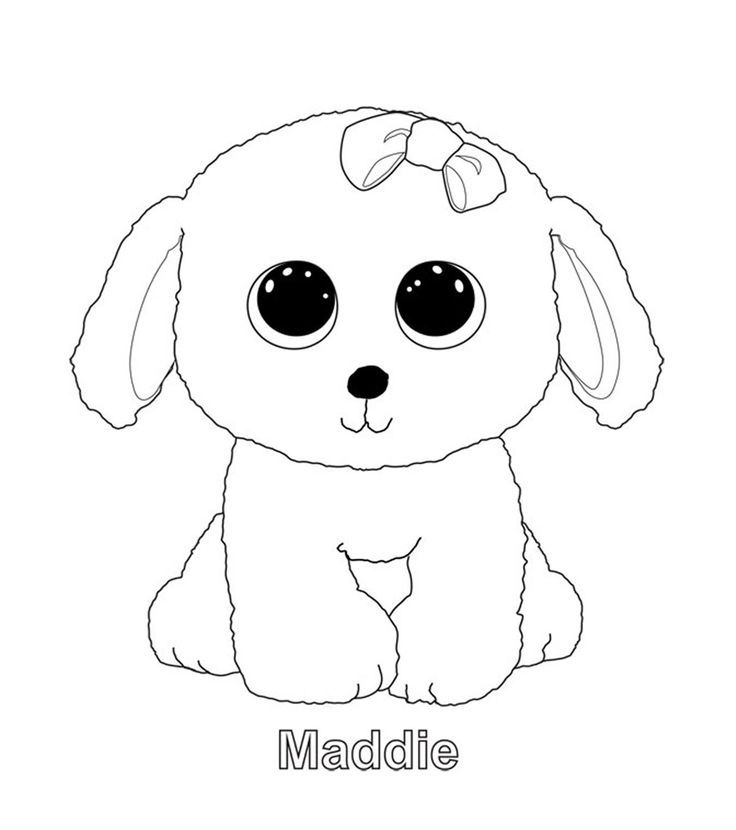 Image Result For Beanie Boo Paw Print Dog Coloring Page Beanie Boo Dogs Puppy Coloring Pages
