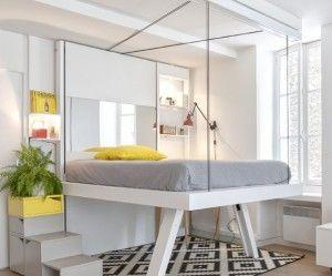 lit escamotable bedup vision empty world pinterest lit lit escamotable et petit appartement. Black Bedroom Furniture Sets. Home Design Ideas