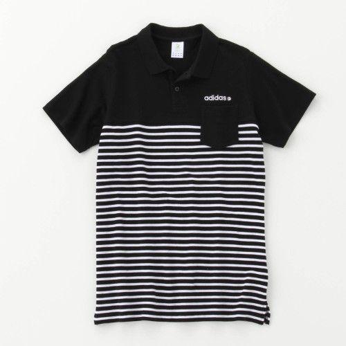 メンズ ポケット付きボーダーポロシャツ【ネット限定カラーあり】