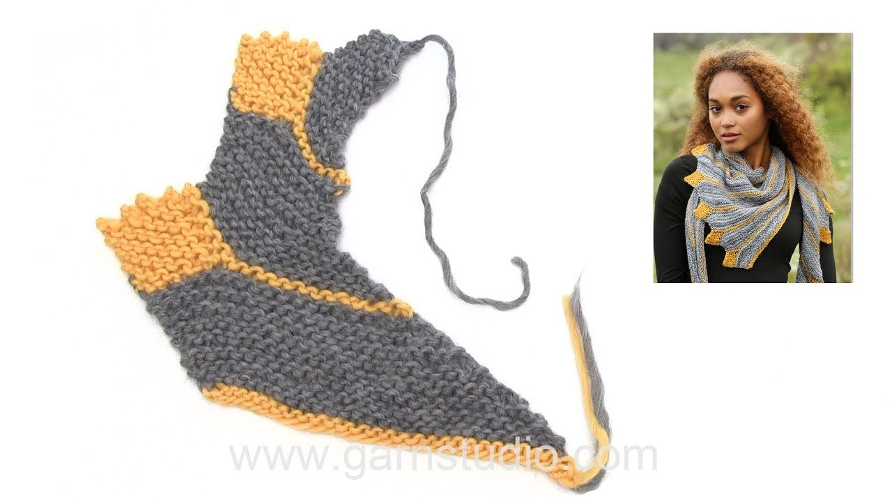 In this DROPS video we show how we knit a shawl with garter stitches ...