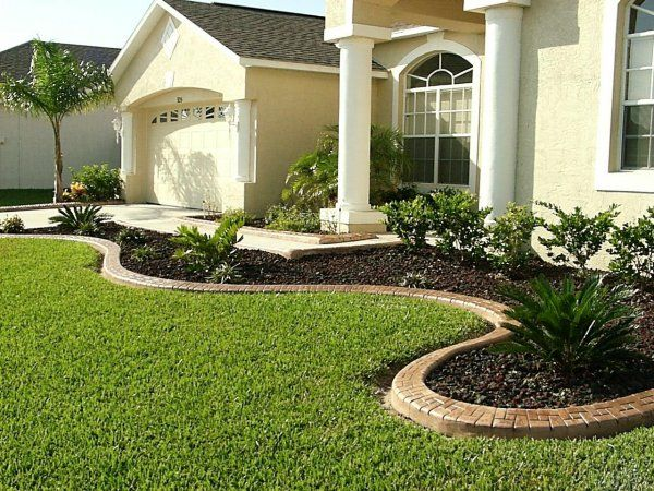 Landscape Ideas For Front Of House Garden Design With Concrete