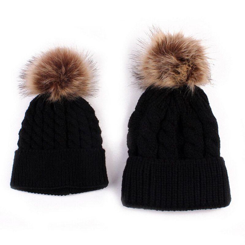 Toddler Kids Baby Unisex Cap Winter Warm Fashion Knotted Hat Beanie Headwear Cap