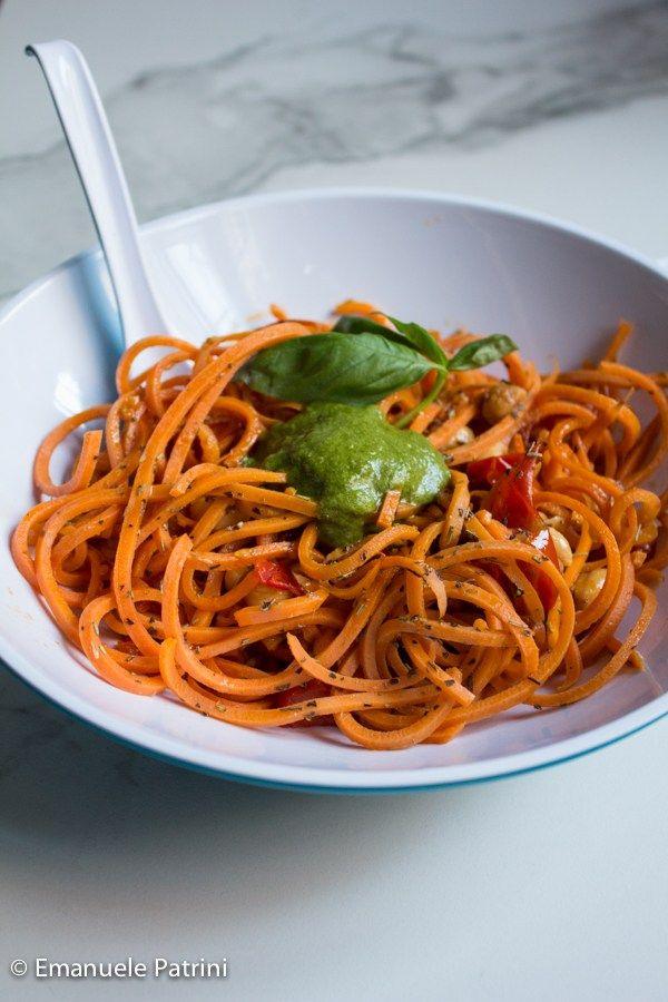 Spaghetti di carote e pesto Ricette, Ricette spaghetti