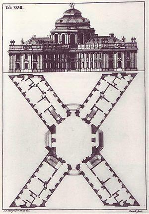 letter x from steingruber s 1773 architectonisches alphabeth