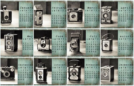 2014 Calendar Vintage Camera Calendar by ShadetreePhotography, $25.00