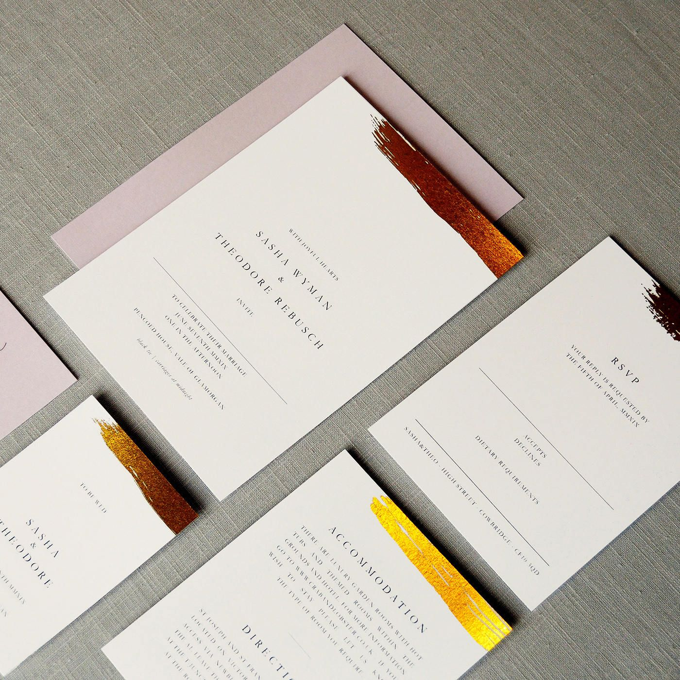 Antoinette - Foil Wedding Invitations with Silver, Gold or Rose Gold ...
