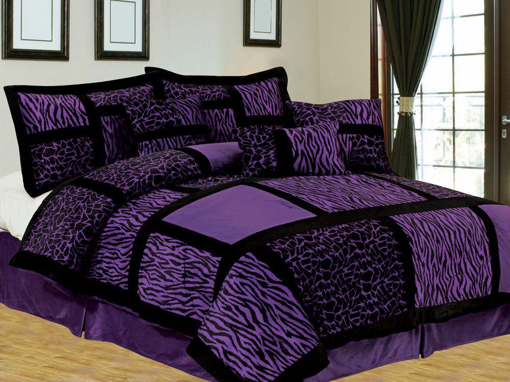 Interesse Dunklen Lila Bettwasche Sets Bett Bettwasche Lila