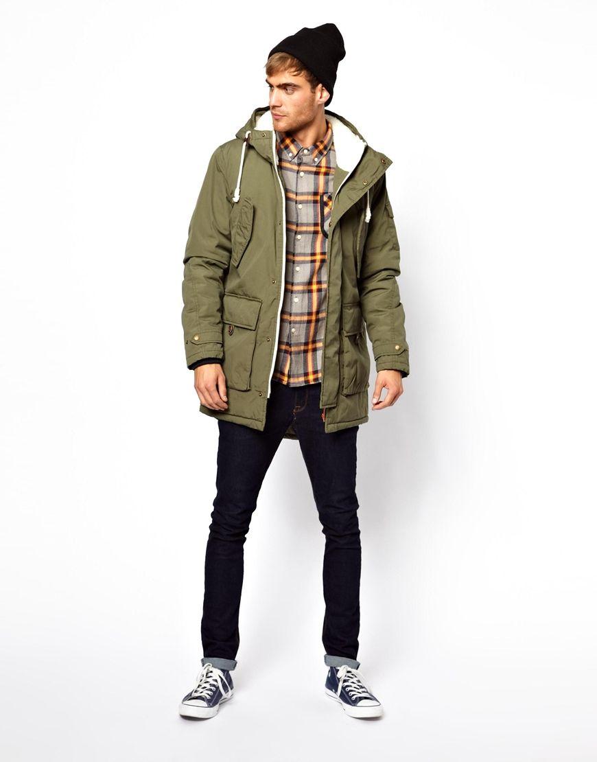 Jack Jones Parka Jacket With Borg Lining Casual Wear For Men Mens Winter Fashion Mens Fashion Inspiration