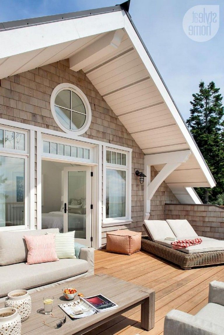45 Clever And Creative Idea For Attic Terrace Designs Page 41 Of 46 House Designs Exterior Lake Houses Exterior Dream House