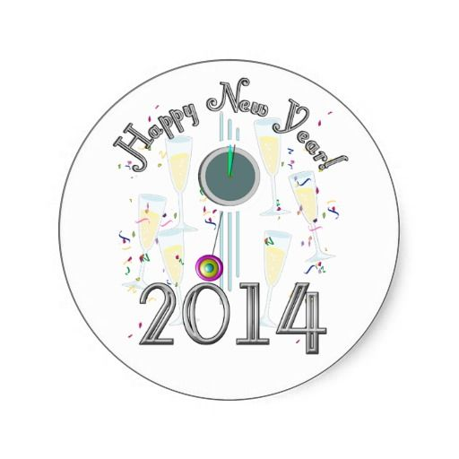 2014 new years champagne celebration round stickers shipping to cambridge canada newyear