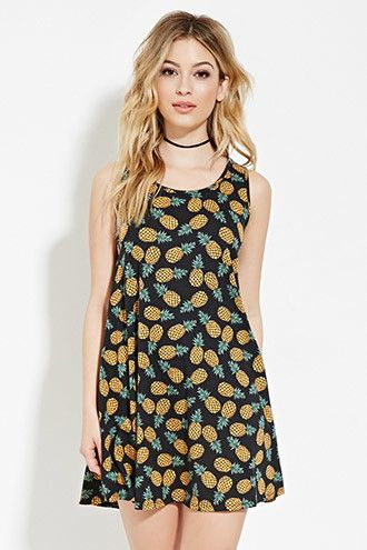 3767a38dfdc93 Pineapple Print Mini Dress | Forever 21 - 2000169119, $12.90 ...