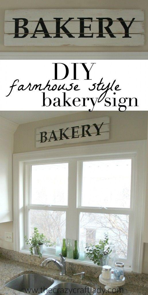 DIY Farmhouse Style Bakery Kitchen Sign Pinterest Kitchen Signs Magnificent Bakery Kitchen Design Style