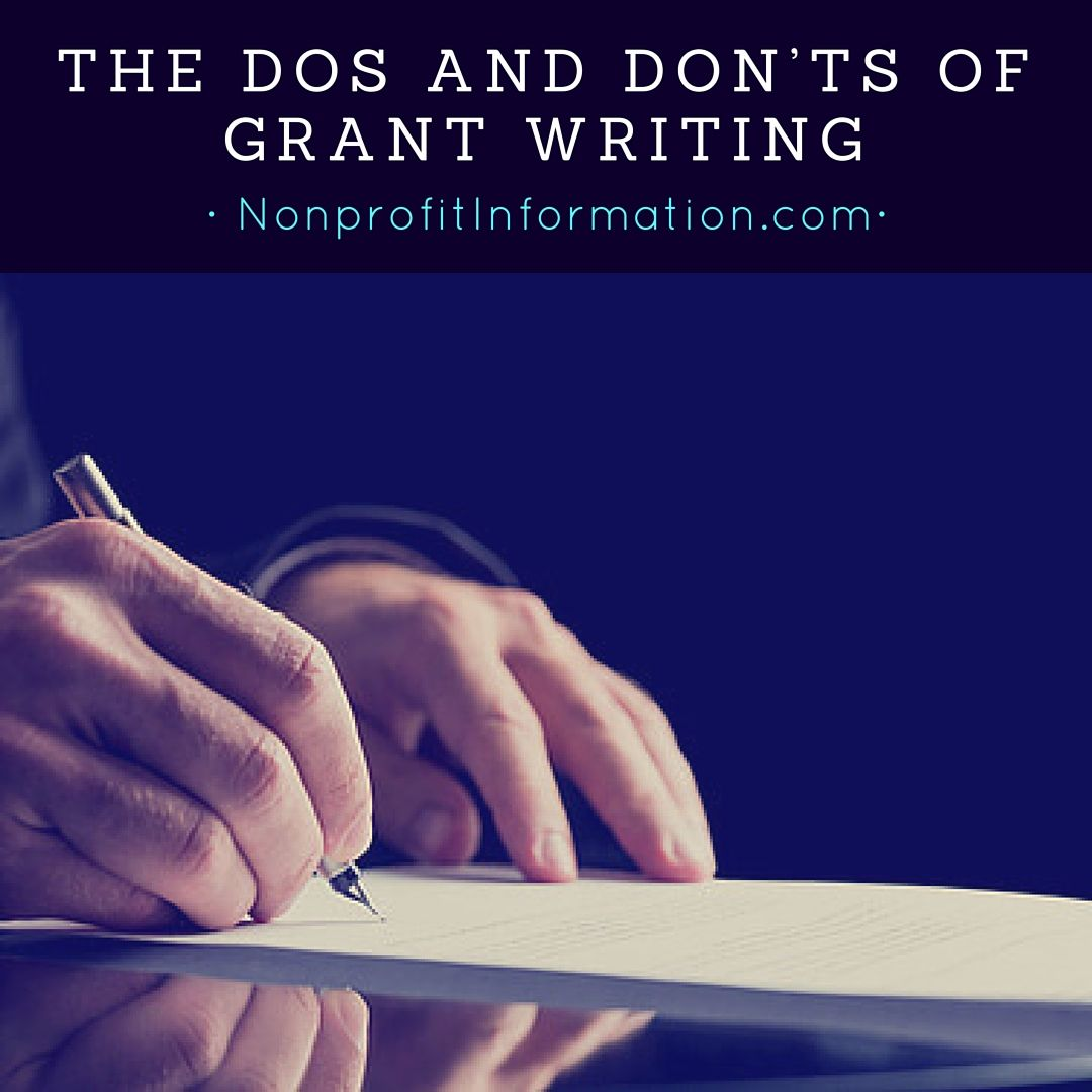 Dos and Don'ts of Grant Writing - Grant Writing Tips | non