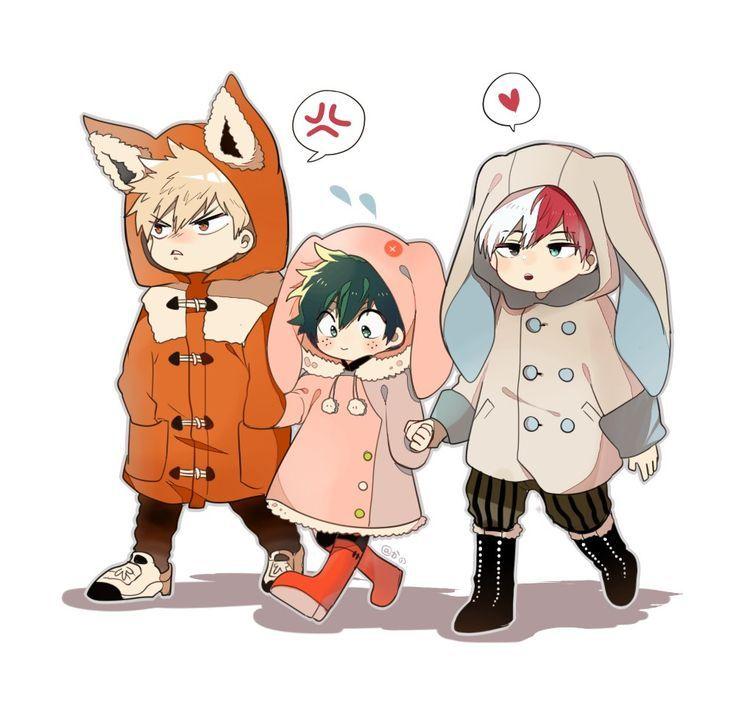 Resultado de imagen para bakugou,todoroki y deku