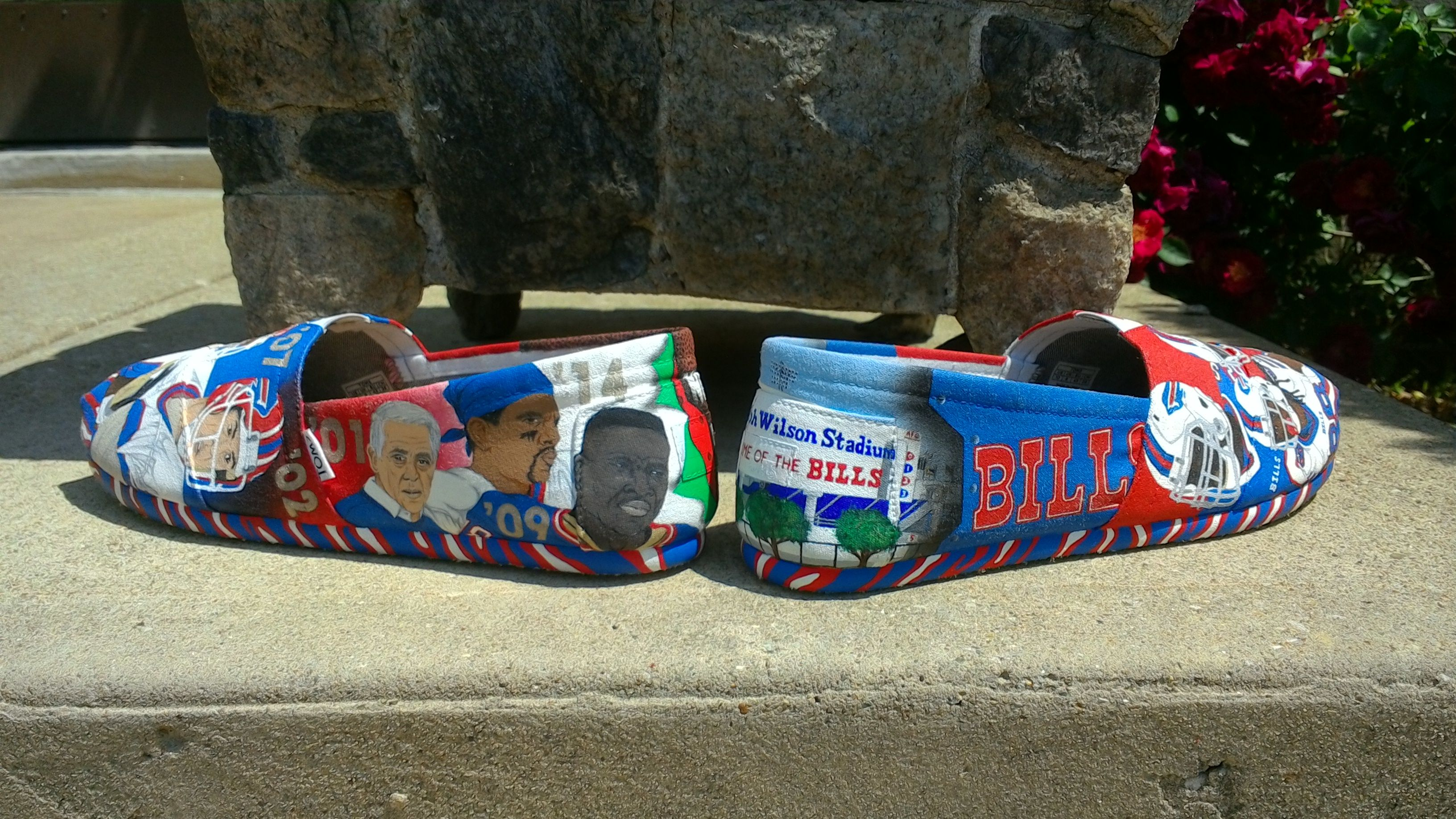 Buffalo Bills Hand Painted Custom Kicks