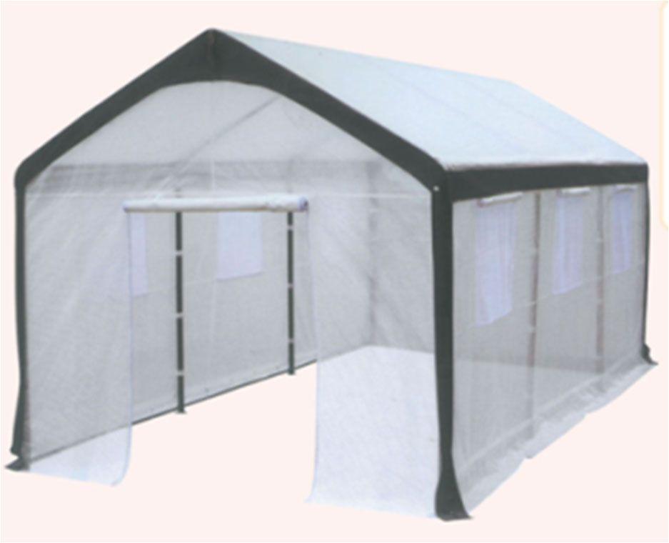 Name:10\'x20\' Transparent PE Carport Steel Leg Tube: Ø48x0.9mm; Steel ...