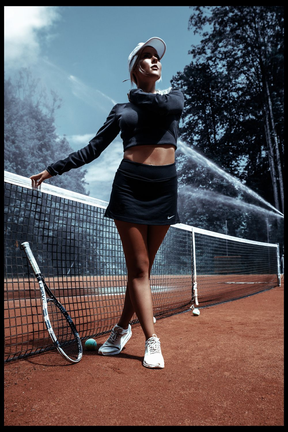 Sporty Tennis Court Fashion Shooting By Giulessa Edgy Fashion Photography Fashion Fashion Shoot