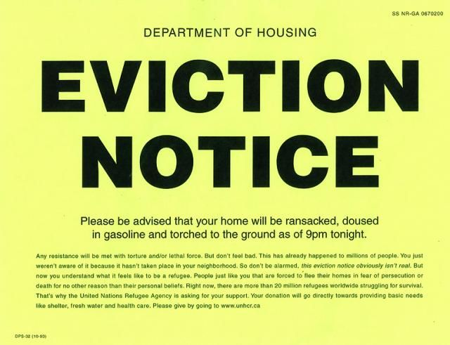 Eviction Notice  The Latest Email Scam Containing Malware