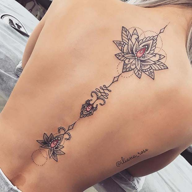45 jolies idées de tatouage de fleur de lotus pour les femmes #flowertattoo – Blog