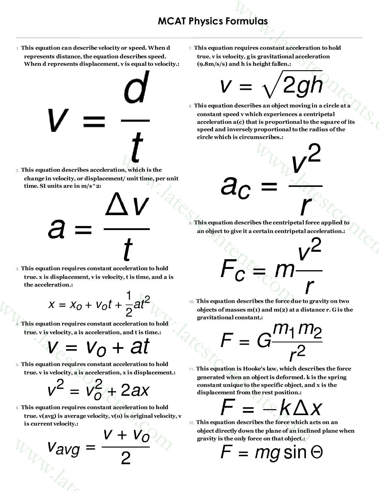 how to study physics in high school