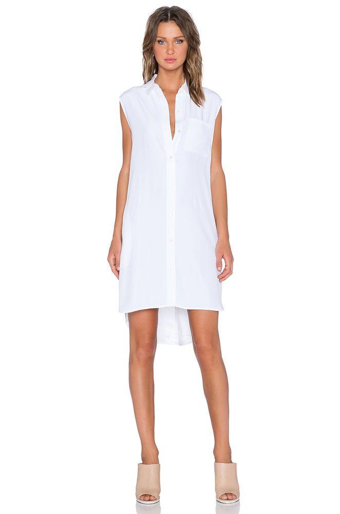 9ce9a31cf3f1 FRAME DENIM Le Sleeveless Button Down Sexy Casual Silk Shirt Tunic Dress  $359 #FrameDenim #ShirtDress #Casual