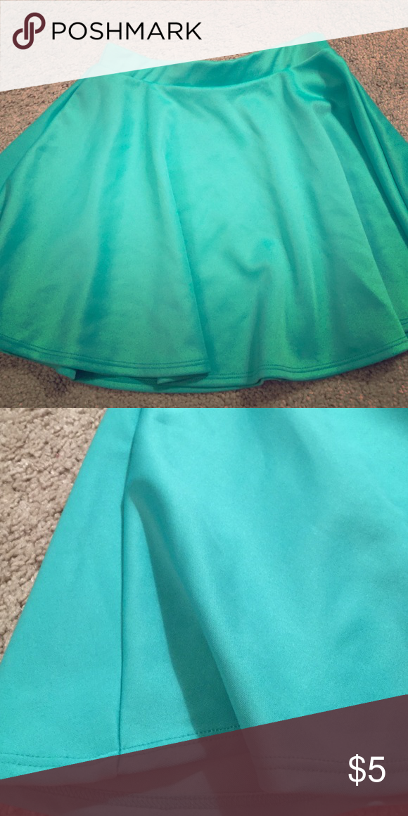 Teal Body Central Skater Skirt Size Small Adorable teal skater skirt. Like new condition. Polyester/spandex blend so easy to wear. Body Central Skirts Circle & Skater