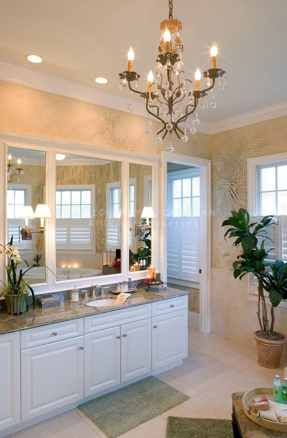 Bathroom Chandelier With Recessed Lights Over Sinks Powder Room Cool Bathroom Chandelier Decorating Design